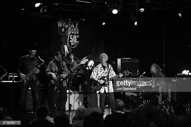 Guitarist Robby Krieger of the rock band The Doors performs with the Robby Krieger Band at the Whisky a Go Go in Los Angeles California on January 16...