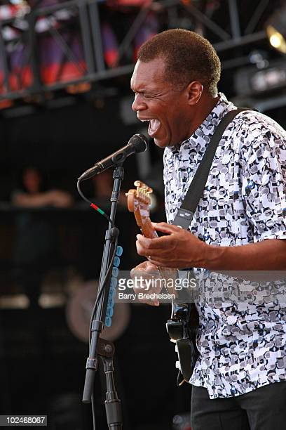 Guitarist Robert Cray performs onstage during the 2010 Crossroads Guitar Festival at Toyota Park on June 26 2010 in Bridgeview Illinois
