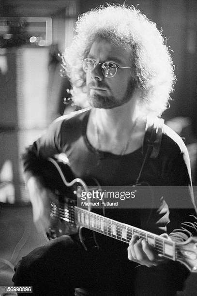Guitarist Robert Fripp of progressive rock band King Crimson circa 1972