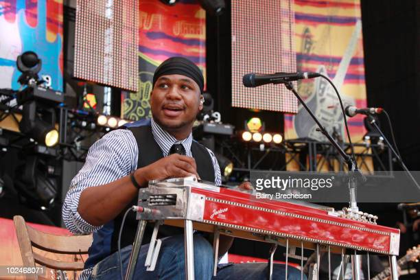 Guitarist Robert Randolph performs onstage during the 2010 Crossroads Guitar Festival at Toyota Park on June 26 2010 in Bridgeview Illinois