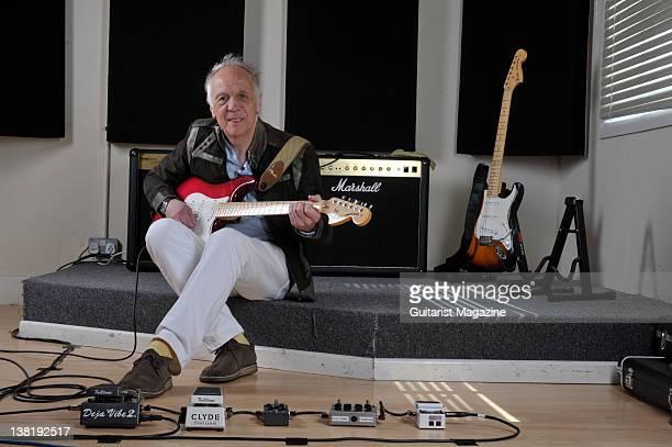 Guitarist Robin Trower during a shoot at Studio 91 Newbury April 19 2011