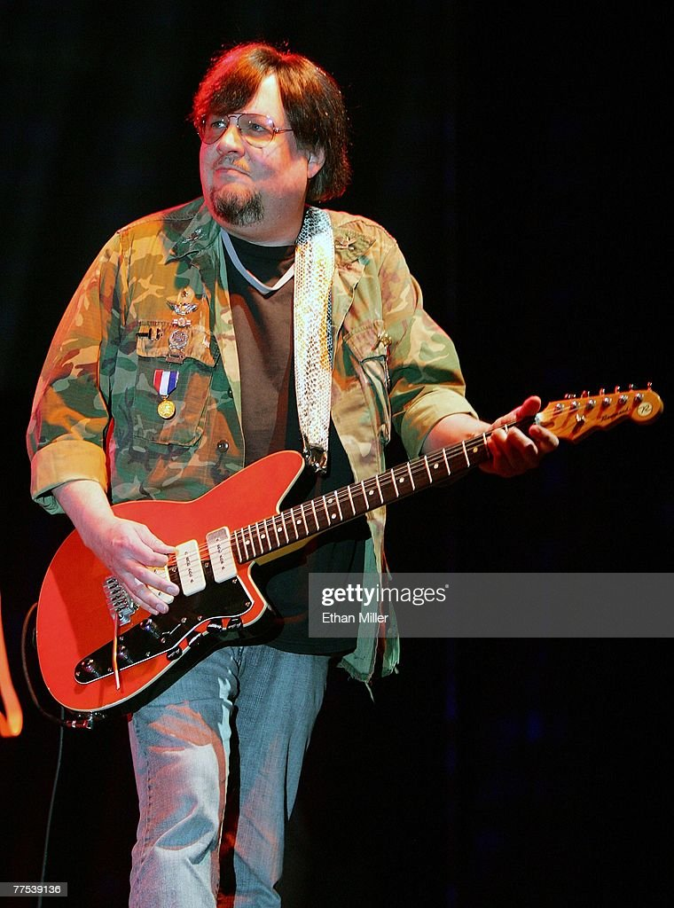 Guitarist Ron Asheton of Iggy & The Stooges performs during the Vegoose music festival at Sam Boyd Stadium's Star Nursery Field October 27, 2007 in Las Vegas, Nevada.