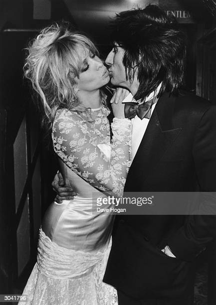 Guitarist Ron Wood of the Small Faces and The Rolling Stones marries his girlfriend Jo Howard in Denham, 2nd January 1985.