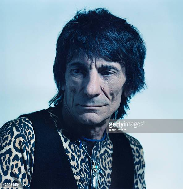 Guitarist Ronnie Wood is photographed for the Guardian on February 14 2011 in London England