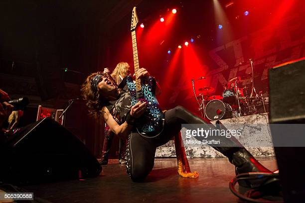 Guitarist Satchel of Steel Panther performs at The Regency Ballroom on January 16 2016 in San Francisco California