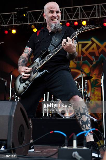 Guitarist Scott Ian of Anthrax performs during the 2012 Rock On The Range festival at Crew Stadium on May 20 2012 in Columbus Ohio
