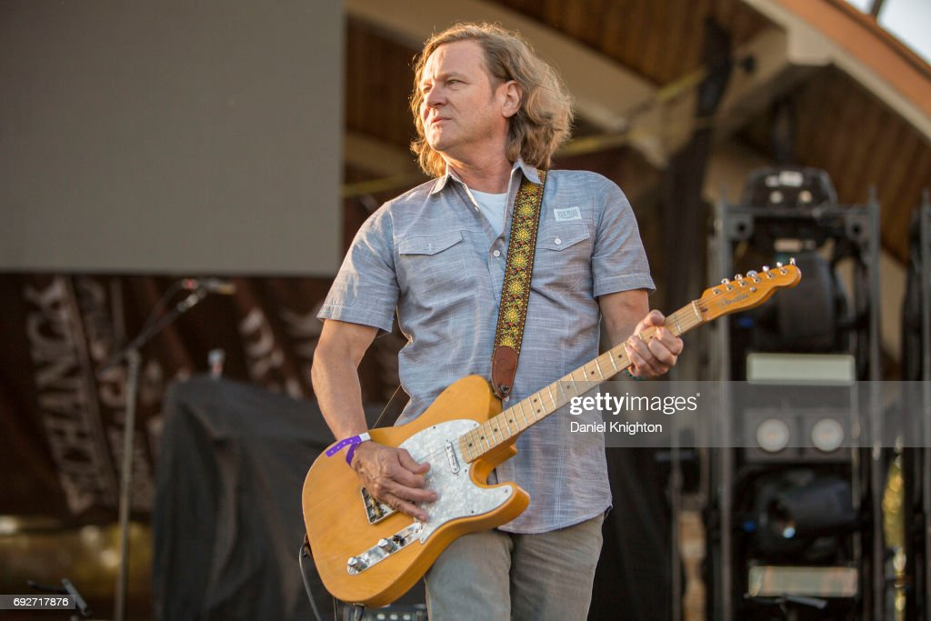 Guitarist Scott Johnson of Gin Blossoms performs on stage at