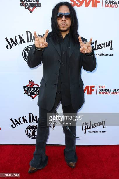 Guitarist Sin Quirin of Ministry arrives at the 6th annual Sunset Strip Music Festival launch party honoring Joan Jett at House of Blues Sunset Strip...