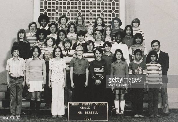 Guitarist Slash in his 6th grade class photo from Third Street School in 1977 in Los Angeles California