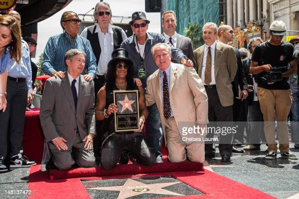Guitarist Slash is honored with a star on the Hollywood Walk of Fame on July 10 2012 in Hollywood California