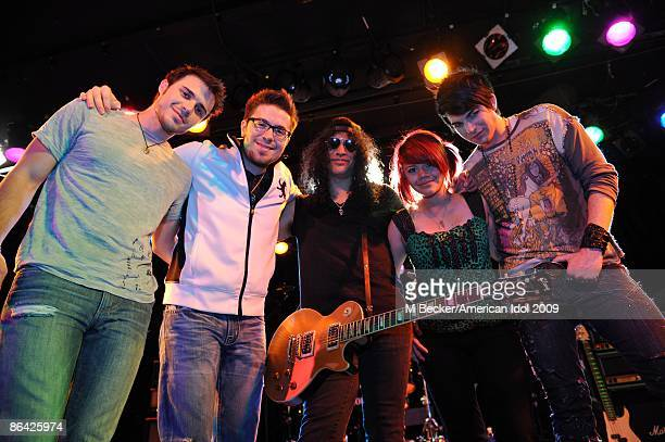 ACCESS*** Guitarist Slash mentors the 'Final 4' American Idol Contestants Kris Allen Danny Gokey Allison Iraheta and Adam Lambert on the American...