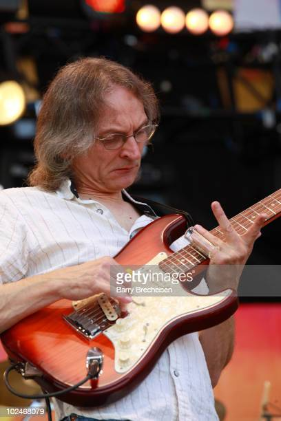 Guitarist Sonny Landreth performs onstage during the 2010 Crossroads Guitar Festival at Toyota Park on June 26 2010 in Bridgeview Illinois