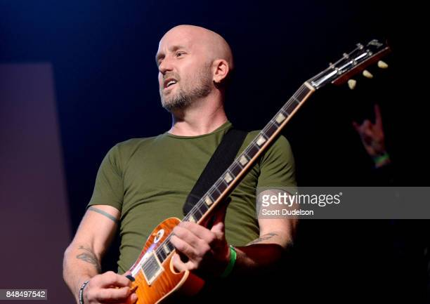 Guitarist Sonny Mayo performs onstage during the second annual Rock for Recovery benefit concert at The Fonda Theatre on September 16 2017 in Los...
