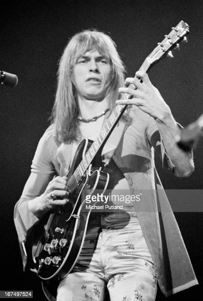 Guitarist Steve Howe performing with English progressive rock group Yes at the Rainbow Theatre London 17th December 1972