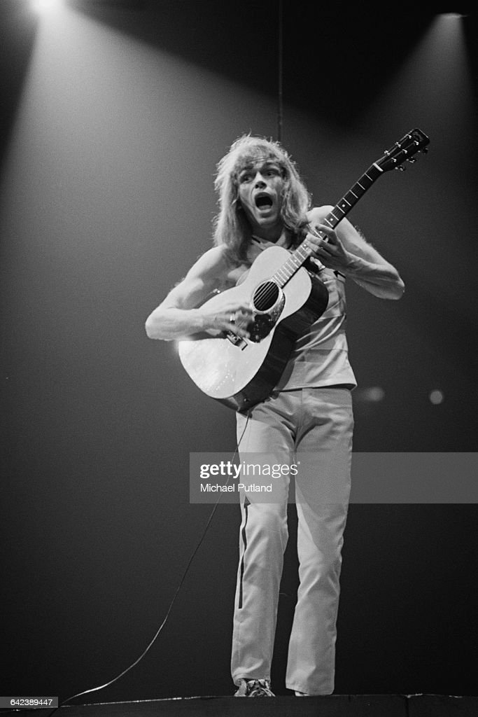 Guitarist Steve Howe performing with English progressive rock group, Yes, at Madison Square Garden, New York City, September 1978. The band played four nights at the venue from 6th-9th September.
