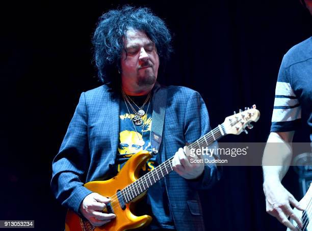 Guitarist Steve Lukather of the band Toto performs onstage with Kings of Chaos at the Adopt the Arts annual rock gala at Avalon Hollywood on January...