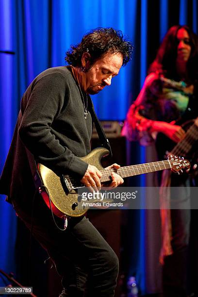 Guitarist Steve Lukather performs onstage at the GRAMMY Museum on October 24 2011 in Los Angeles California