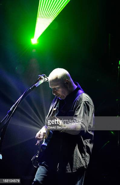 Guitarist Steve Mac of Australian Pink Floyd performs at The Pearl concert theater at the Palms Casino Resort on September 29, 2012 in Las Vegas,...