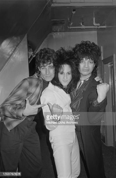 Guitarist Steve Stevens and singer Alan Vega at the Limelight in New York City, USA, circa 1985.