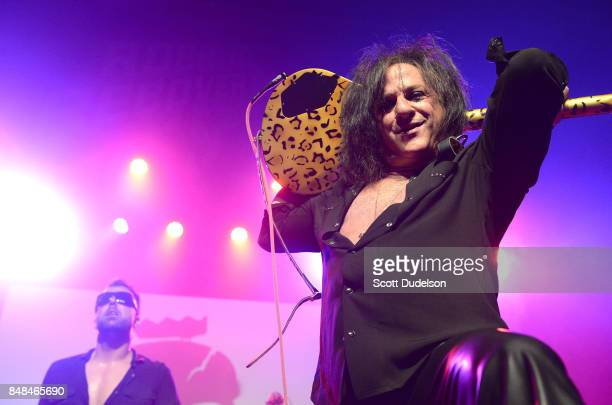Guitarist Steve Stevens of the Billy Idol band performs onstage during the second annual Rock for Recovery benefit concert at The Fonda Theatre on...