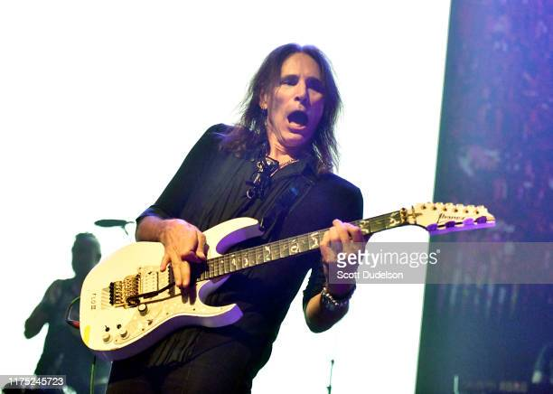 Guitarist Steve Vai performs onstage during the second annual Above Ground concert benefting MusiCares at The Fonda Theatre on September 16, 2019 in...
