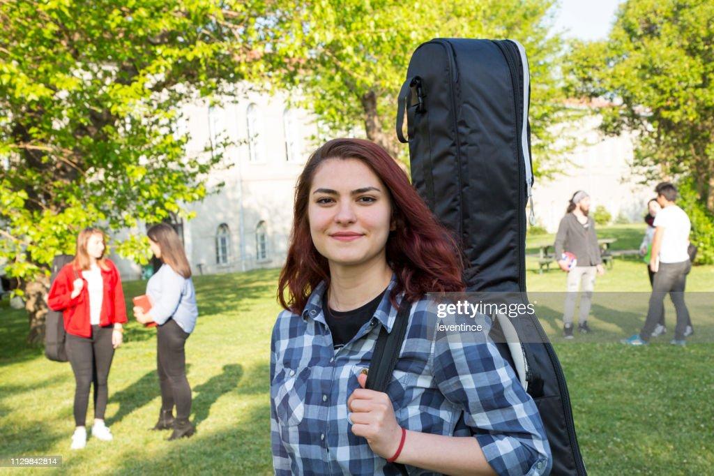 Guitarist Student Portrait : Stock Photo