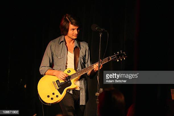 Guitarist Taylor Locke of the band Rooney performs at Station Four club on Sunday February 6 2011 in St Paul Minnesota