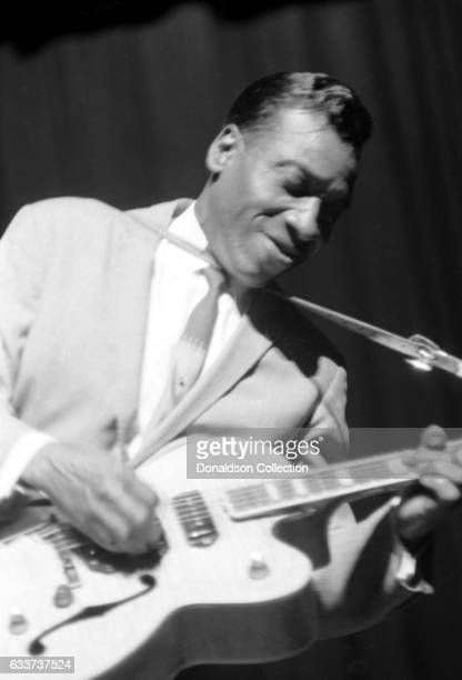 Guitarist TBone Walker performing at the Apollo Theater in January 1966 in New York New York