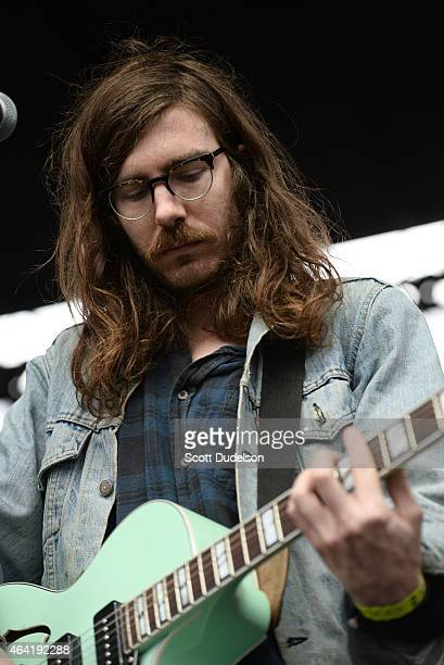 Guitarist Thomas Fekete of Surfer Blood performs onstage at the Rose Bowl on February 21 2015 in Pasadena California