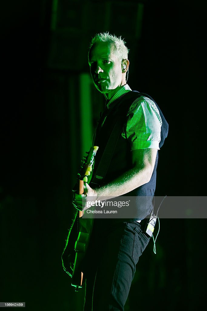 Guitarist Tom Dumont of No Doubt performs at Gibson Amphitheatre on November 24, 2012 in Universal City, California.