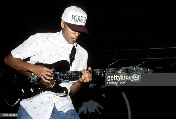 Guitarist Tom Morello performs in Rage Against the Machine at Rock for Choice at the Hollywood Palladium on October 14 1993 in Los Angeles California