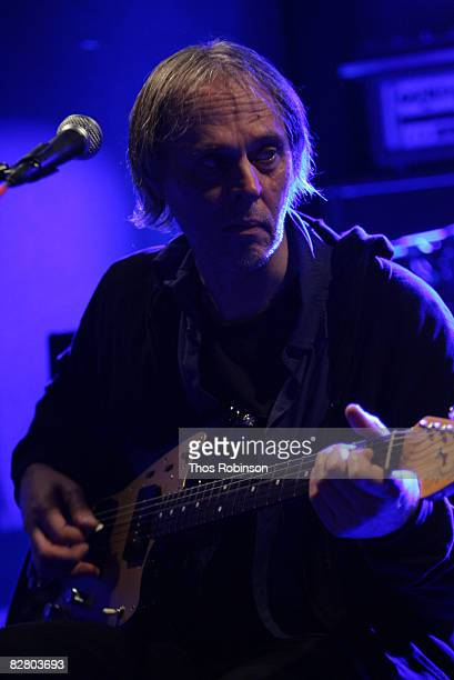 Guitarist Tom Verlaine of Television attends the 'Fender Jazzmaster 50th Anniversary Concert' at the Knitting Factory on September 12 2008 in New...