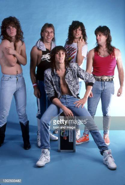 Guitarist Tommy Skeoch, drummer Troy Luccketta, lead singer Jeff Keith, guitarist Frank Hannon, and bass guitarist Brian Wheat, comprising the...