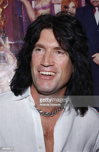 KISS guitarist Tommy Thayer arrives at the record release party for Gene Simmons' 'Asshole' on April 22 2004 at the Key Club in West Hollywood...