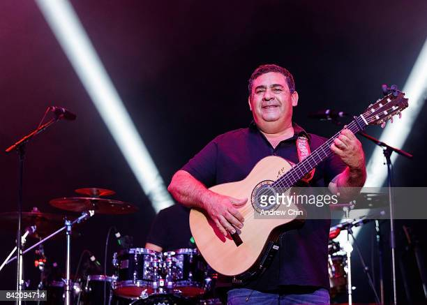 Guitarist Tonino Baliardo of The Gipsy Kings performs on stage during Summer Night Concert Series at PNE Amphitheatre on September 2 2017 in...