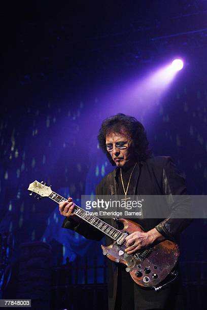 Guitarist Tony Iommi of Black Sabbath performing as Heaven and Hell on stage at the Brighton Centre on November 11 2007 in Brighton England 'Heaven...