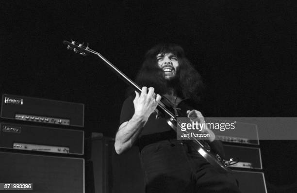 Guitarist Tony Iommi of Black Sabbath performing Copenhagen Denmark December 1970