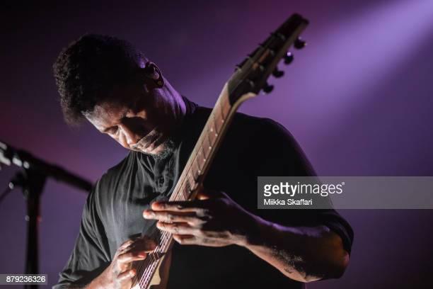 Guitarist Tosin Abasi of Animals as Leaders performs at The Regency Ballroom on November 25, 2017 in San Francisco, California.