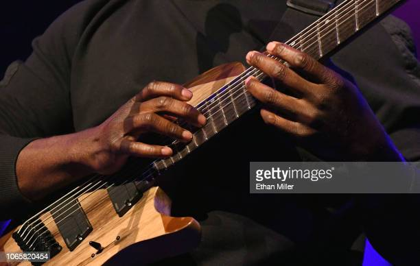 Guitarist Tosin Abasi performs during the Generation Axe show at The Joint inside the Hard Rock Hotel & Casino on November 9, 2018 in Las Vegas,...