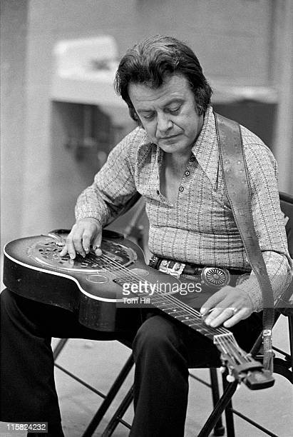 Uncle Josh Graves of The Earl Scruggs Revue during Earl Scruggs Revue and Nitty Gritty Dirt Band in Concert at the University of Georgia May 12 1973...