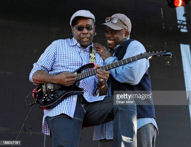 Guitarist Vernon Reid and singer Corey Glover of Living Colour perform during the Life is Beautiful festival on October 27 2013 in Las Vegas Nevada