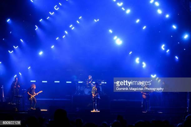 Guitarist Zach Filkins guitarist Drew Brown drummer Eddie Fisher singer Ryan Tedder bassist Brent Kutzle and touring member Brian Willet of...