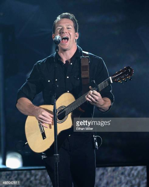 Guitarist Zach Filkins of OneRepublic performs onstage during the 2014 Billboard Music Awards at the MGM Grand Garden Arena on May 18 2014 in Las...