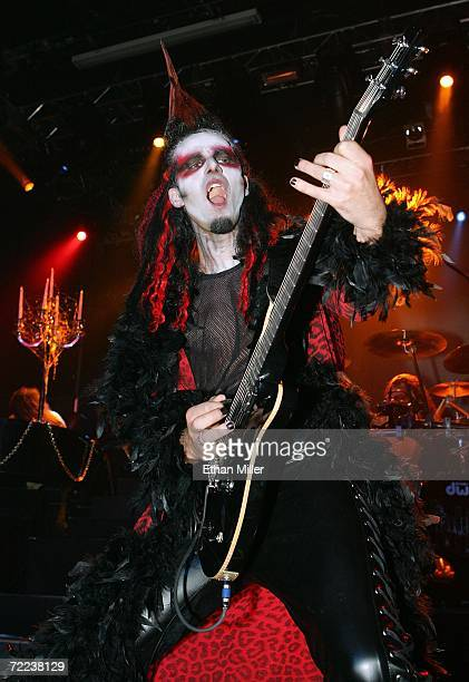 Guitarist Zak Soulam performs as part of Twisted Sister singer Dee Snider and his wife Suzette's wedding vow renewal ceremony following a performance...