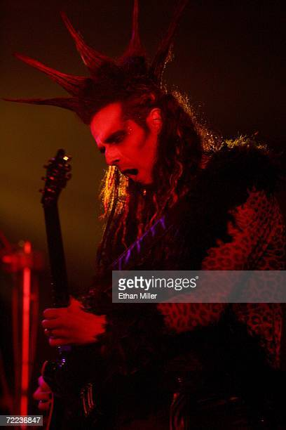 Guitarist Zak Soulam performs during Van Helsing's Curse an 18piece gothic rock opera at The Joint inside the Hard Rock Hotel Casino October 21 2006...