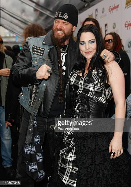 Guitarist Zakk Wylde and Singer Amy Lee attend the 4th Annual Revolver Golden God Awards at Club Nokia on April 11 2012 in Los Angeles California