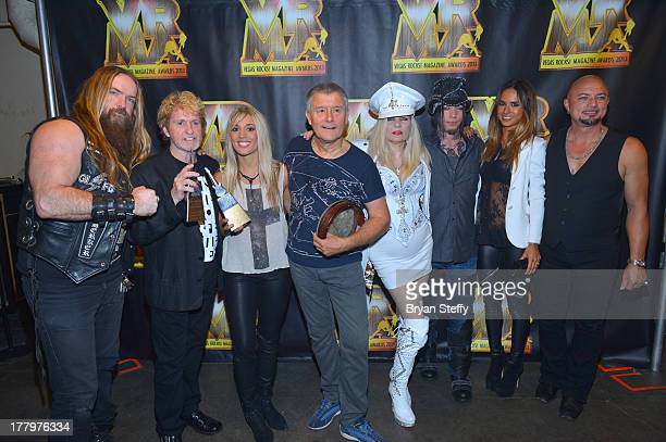 Guitarist Zakk Wylde musician/songwriter Jon Anderson guitarist Laura Wilde drummer Carl Palmer Sally Steele guitarist Dj Ashba model Nathalia Henao...