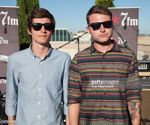 Guitarists Alfie Scully and Liam Cromby of We Are The Ocean attend the 987FM Penthouse Party Presents A Warped Tour Encore Party Featuring Dead Sara...