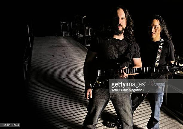 Guitarists John Petrucci of American progmetal group Dream Theater and Herman Li of British power metal group Dragonforce taken on January 15 2008
