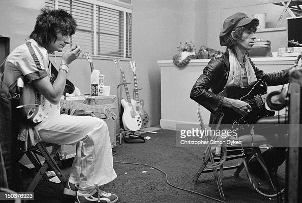 Guitarists Ron Wood And Keith Richards Of The Rolling